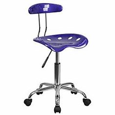 Flash Furniture Vibrant Violet and Chrome Computer Task Chair with Tractor Seat Model LF-214-VIOLET-GG
