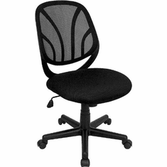 Flash Furniture Y-GO Chair™ Mid-Back Black Mesh Computer Task Chair with Arms Model GO-WY-05-GG