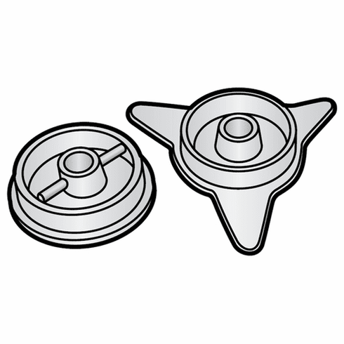 Heat Seal Core End Cap Set (2)Parts For Heat Seal Wrappers (Made In The USA), Model# hs6113