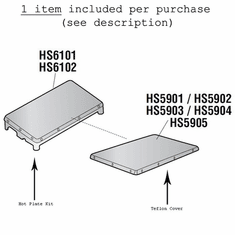 "Heat Seal Non Stick Cover 6"" X 14"" For Heat Seal Wrappers (Made In The USA), Model# hs5904"