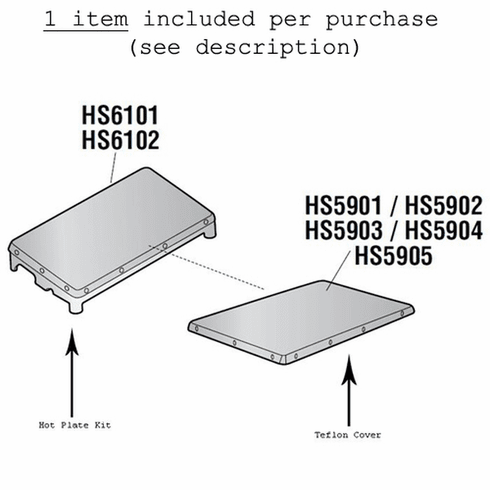 "Heat Seal Non Stick Cover 6"" X 15"" For Heat Seal Wrappers (Made In The USA), Model# hs5901"