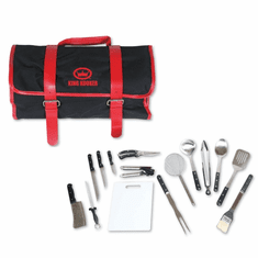 King Kooker 16 Piece Utensil Set With Black & Red Carrying Case, Model# 1660
