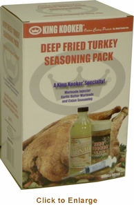 King Kooker Deep Fried Turkey Seasoning Pack, Model# 96348