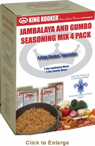 King Kooker  Gumbo And Jambalaya Seasoning Mix 4 Pack, Model# 40024