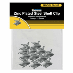 Krowne Metal 12-Pack Snap-In Shelf Support Clips, Stainless Steel, Model# P30-318
