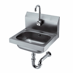 """Krowne Metal 16"""" Wide Hand Sink With Electronic Faucet And P-Trap, Model# HS-12"""