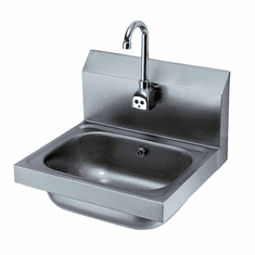 """Krowne Metal 16"""" Wide Hand Sink With Electronic Faucet, Model# HS-11"""