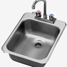 """Krowne Metal 16"""" Wide Hand Sink With Electronic Faucet, Soap & Towel Dispenser And P-Trap, Model# HS-13"""