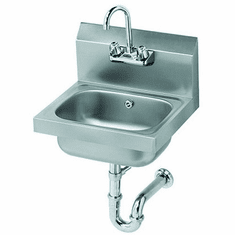 """Krowne Metal 16"""" Wide Hand Sink With P-Trap With Overflow, Model# HS-4"""