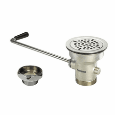"Krowne Metal 3-1/2"" Twist Waste Drain With 1-1/4"" Overflow Outlet (Cap Included), Model# 22-204"