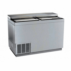 "Krowne Metal 48"" Stainless Steel Slide Top Bottle Cooler, Model# BC48-SS"