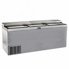 "Krowne Metal 72"" Stainless Steel Slide Top Bottle Cooler, Model# BC72-SS"