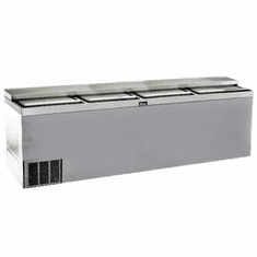 "Krowne Metal 96"" Stainless Steel Slide Top Bottle Cooler, Model# BC96-SS"