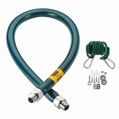 Krowne Metal Gas Hose With Restraining Cable