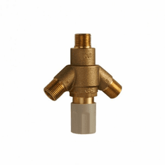 Krowne Metal Theromostatic Mixing Valve With Built-In Check Valves, Model# 16-405L