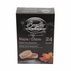 Maple Bisquettes24 Pack For Bradley Smokers, Model# BTMP24