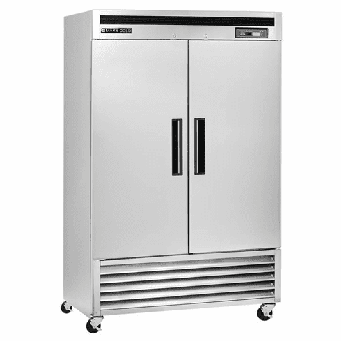Maxx Cold 42.8 Cu Ft Two Door Reach In Refrigerator Bottom Mount, Model# MCR-49FDHC