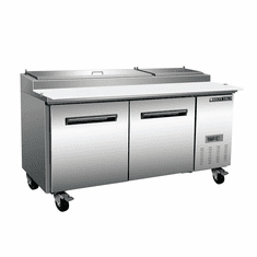 Maxx Cold X-Series 22 Cu Ft Refrigerated Pizza Prep Table Two Door, Model# MXCPP70HC