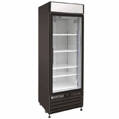 Maxx Cold X-Series 23 Cu Ft Glass Door Merchandiser Refrigerator Black Exterior, Model# MXM1-23RBHC