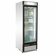 Maxx Cold X-Series 23 Cu Ft Glass Door Merchandiser Refrigerator Stainless Exterior, Model# MXM1-23RHC