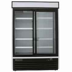 Maxx Cold X-Series 48 Cu Ft Glass Door Merchandiser Refrigerator Stainless Exterior w/ Sliding Doors, Model# MXM2-48RSHC