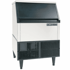Maxx Ice 260 Lb Self Contained Ice Machine Full Cube Stainless w/ Black Trim, Model# MIM250