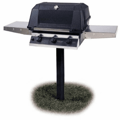 Mhp Hybrid Propane Gas Grill In-Grnd Post, Model# WHRG4DD-PS-MPP