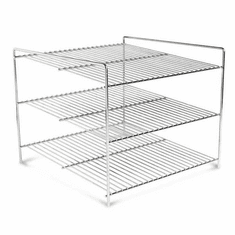 Nemco 3 Tier Shelf System For 6454 Heated Pizza Display Case, Model# 66792