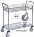 Nexel Chrome 21X30 2 Shelf Utility Cart-Polyurethane Casters, Model# 2130P2CB