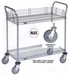 Nexel Chrome 24X30 2 Shelf Utility Cart-Polyurethane Casters, Model# 2430P2CB