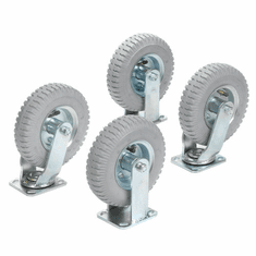 "Nexel Plate Caster Set 8"" Pneumatic Wheels 2 Swivel 2 Rigid 1200 Lb. Capacity, Model# CAP8RN"