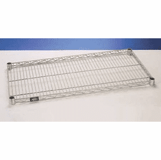 Nexel Polished Stainless Steel Wire Shelves