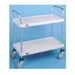 Nexel Solid Plastic 18X36 2 Shelf Utility Carts, Model# 1836P2SPB