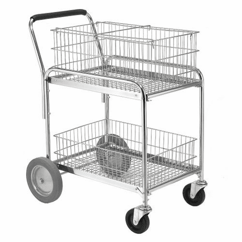 "Nexel Standard Service Cart Chrome 24""W X 33""L X 38""H, Model# SC33243"
