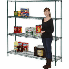 "Nexel Wire Shelving 72"" By 18"""