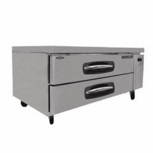 "Nor-Lake Advantedge™ Chef Base53"" W9.8 Cubic Feet Capacity(2) DrawersCurved Handle With Recessed PocketS/S Interior & Exterior1/5 Hp115V/60/1UlEtl, Model# NLCB53"