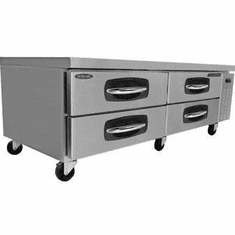 "Nor-Lake Advantedge Chef Base60"" W9.8 Cubic Feet Capacity(2) DrawersCurved Handle With Recessed PocketS/S Interior & Exterior1/5 Hp115V/60/1UlEtl, Model# NLCB60"