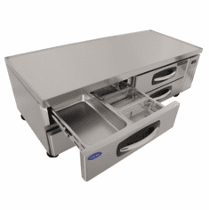 "Nor-Lake Advantedge™ Chef Base72"" W14.3 Cubic Feet Capacity(4) DrawersFull Marine Drip GuardS/S Interior & Exterior1/5 Hp115V/60/1UlC-UlEtl, Model# NLCB72"