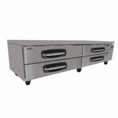 "Nor-Lake Advantedge Chef Base96"" W21.4 Cubic Feet Capacity(4) DrawersCurved Handle With Recessed PocketS/S Interior & Exterior3/8 Hp115V/60/1Ul Etl, Model# NLCB96"