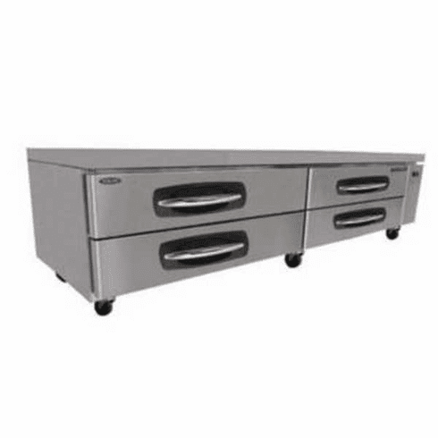 """Nor-Lake Advantedge Chef Base96"""" W21.4 Cubic Feet Capacity(4) DrawersCurved Handle With Recessed PocketS/S Interior & Exterior3/8 Hp115V/60/1Ul Etl, Model# NLCB96"""
