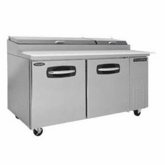 """Nor-Lake Advantedge� Pizza Prep Table67"""" W(9) 1/3 Size Pans Included(2) DoorsAuto Defrost,Self-Contained Refrigeration 1/3 Hp115V/60/1 UlC-UlEtl, Model# NLPT67"""