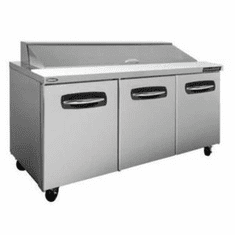 """Nor-Lake Advantedge� Refrigerated Sandwich Unit72-3/8"""" W18 Pan Opening (18-1/6 Pans Included)Temp Range 32� To 40� F3/8 Hp115V/60/19.9 Amps,UlC-UlEtl, Model# NLSP72-18"""