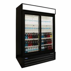 Nor-Lake Refrigerated Merchandiser45.7 Cubic Feet2-DoorBottom Mount Compressor,Black ExteriorWhite Interior1/3 Hp115V/60/1Cord & PlugNsfUl Listed, Model# NLGRP48-SL-B