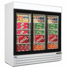 Nor-Lake Refrigerated Merchandiser70.2 Cubic Feet3-DoorBottom Mount CompressorWhite Exterior & Interior1/2 Hp115V/60/1Cord And PlugNsfUlListed, Model# NLGRP74-SL-W