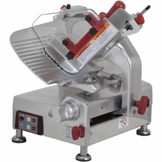 "Omas 12"" Automatic Meat Slicer Gravity Feed Belt Driven 1/2 HP NSF ETL, Model 13654"