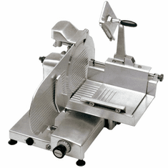 "Omas 12"" Manual Meat Slicer Straight Feed Gear Driven .35 HP NSF ETL & UL, Model 13655"