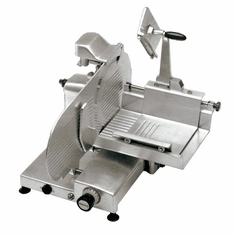 "Omas Manual Meat Slicer Straight Feed 13"" Dia Blade Gear Driven .35 HP Nsf Etl & Cetl Ul, Model 13656"