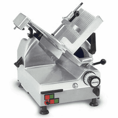 "Omas Meat SlicerAutomaticGravity Feed12"" DiaCarbon Steel BladeBelt Driven Blade Assembly1/2 HpNsfEtl, Model# 13654"