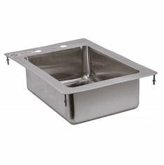 """Omcan 10"""" X 14"""" X 5"""" Stainless Steel Single Tub Drop In Sink With Flat Top, Model# 39779"""