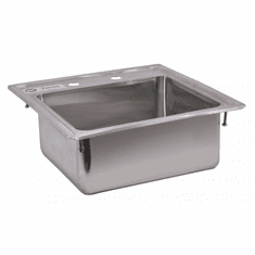 """Omcan 12.5"""" X 10.25"""" X 5.5"""" Stainless Steel Single Drop In Sink With Self-Rimmed Edge, Model# 39784"""